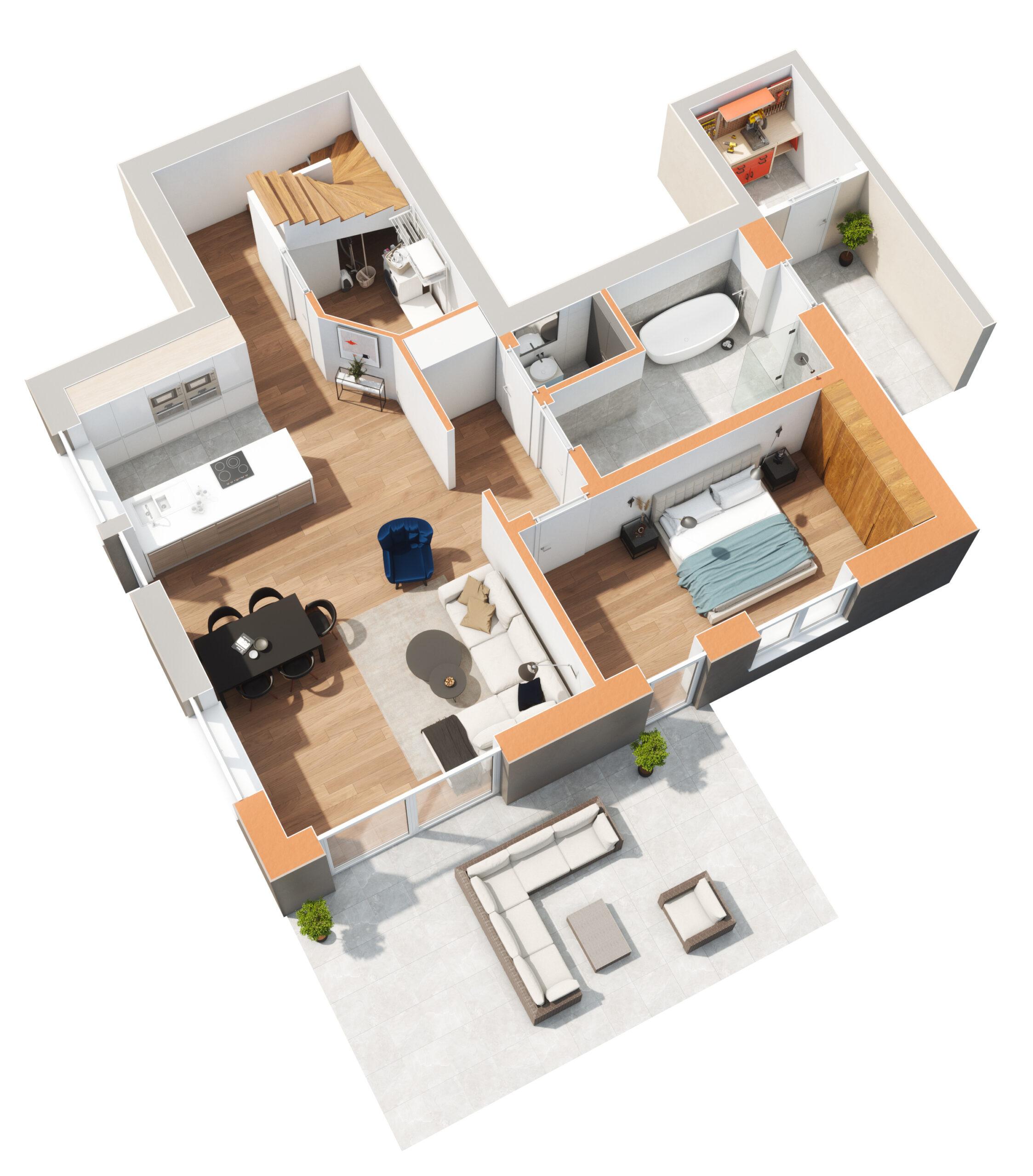 Haus 1 - Untergeschoss