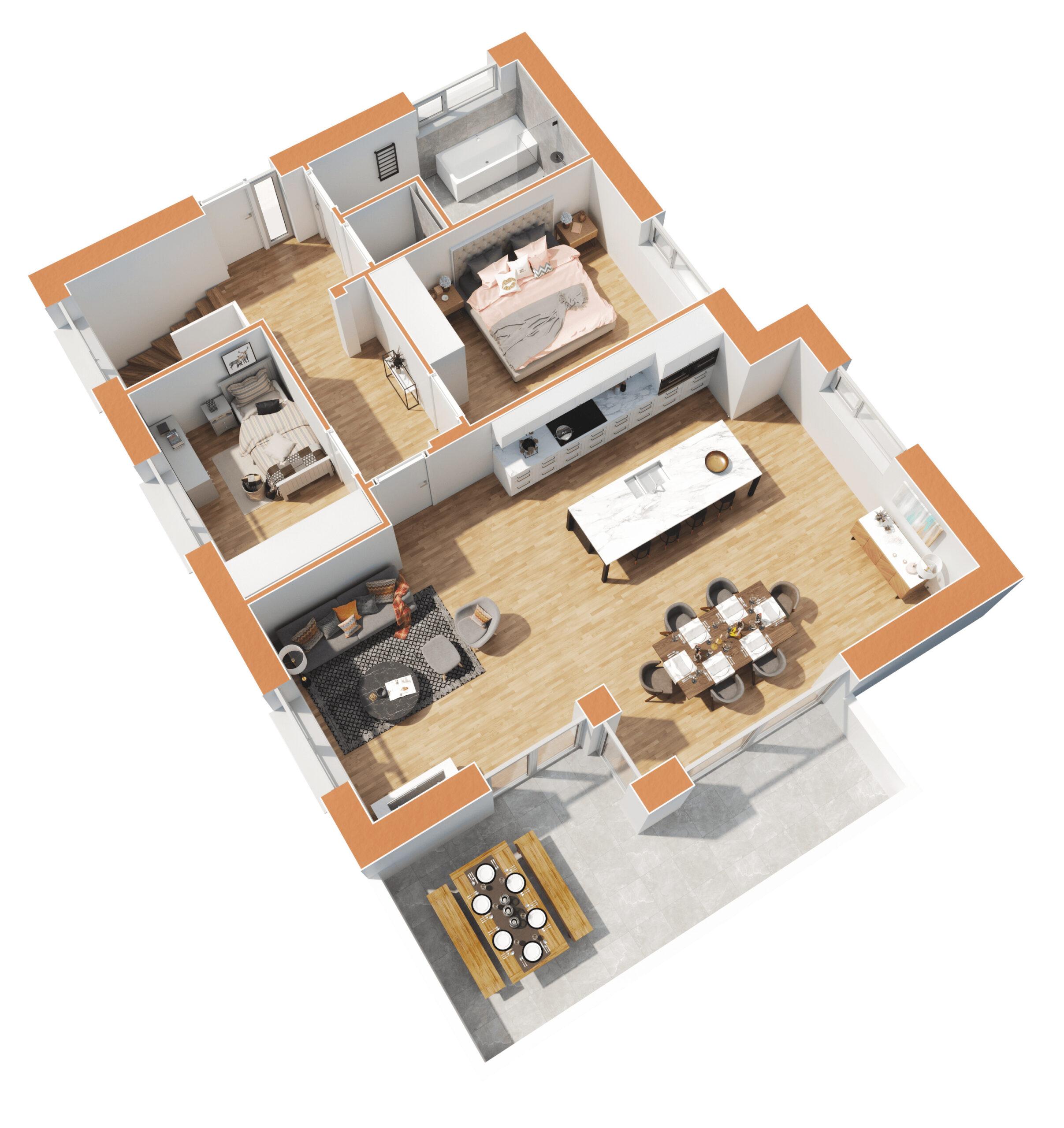 Haus 2 - Top3 - Wohnebene