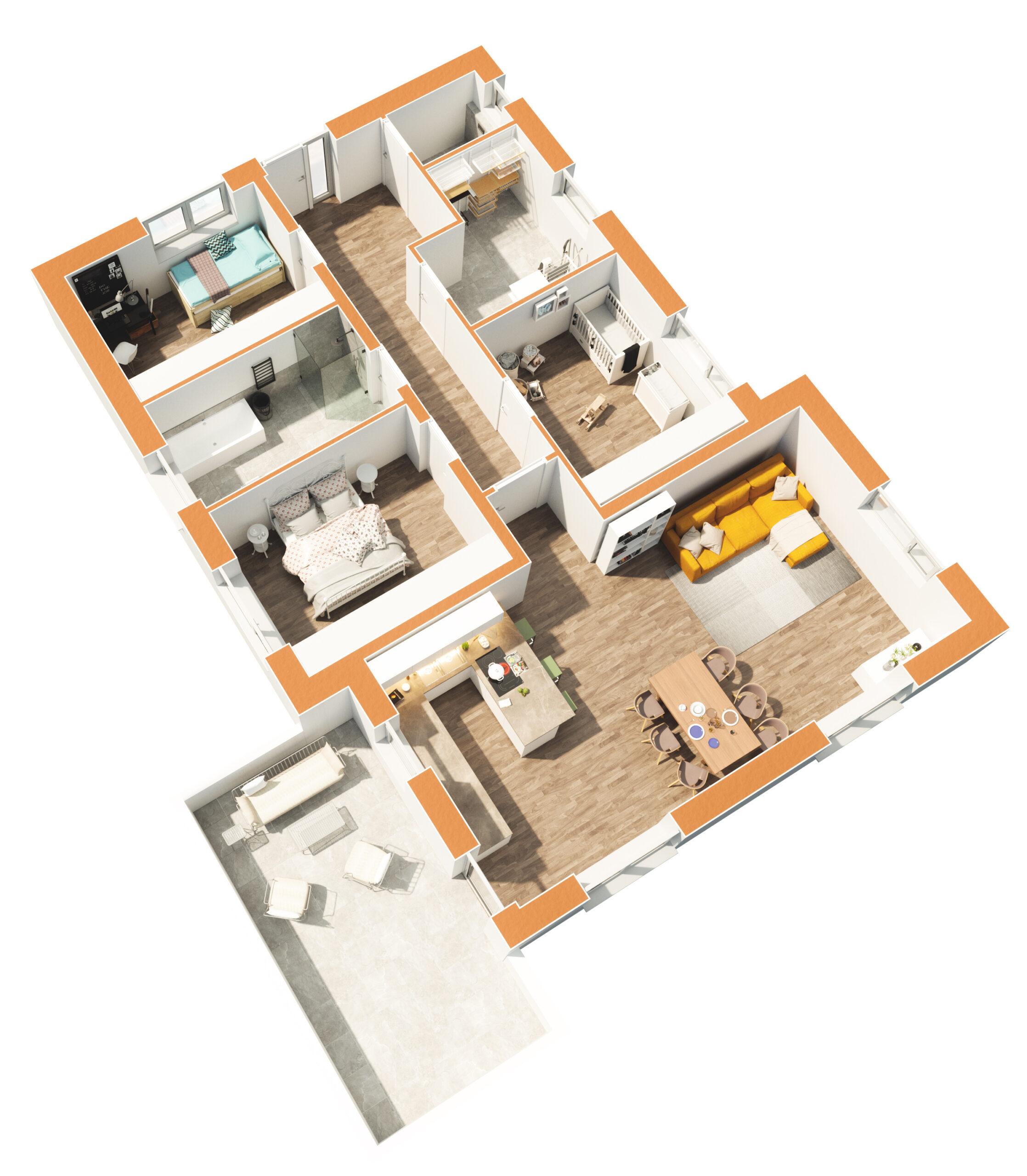 Haus 3 - Erdgeschoss