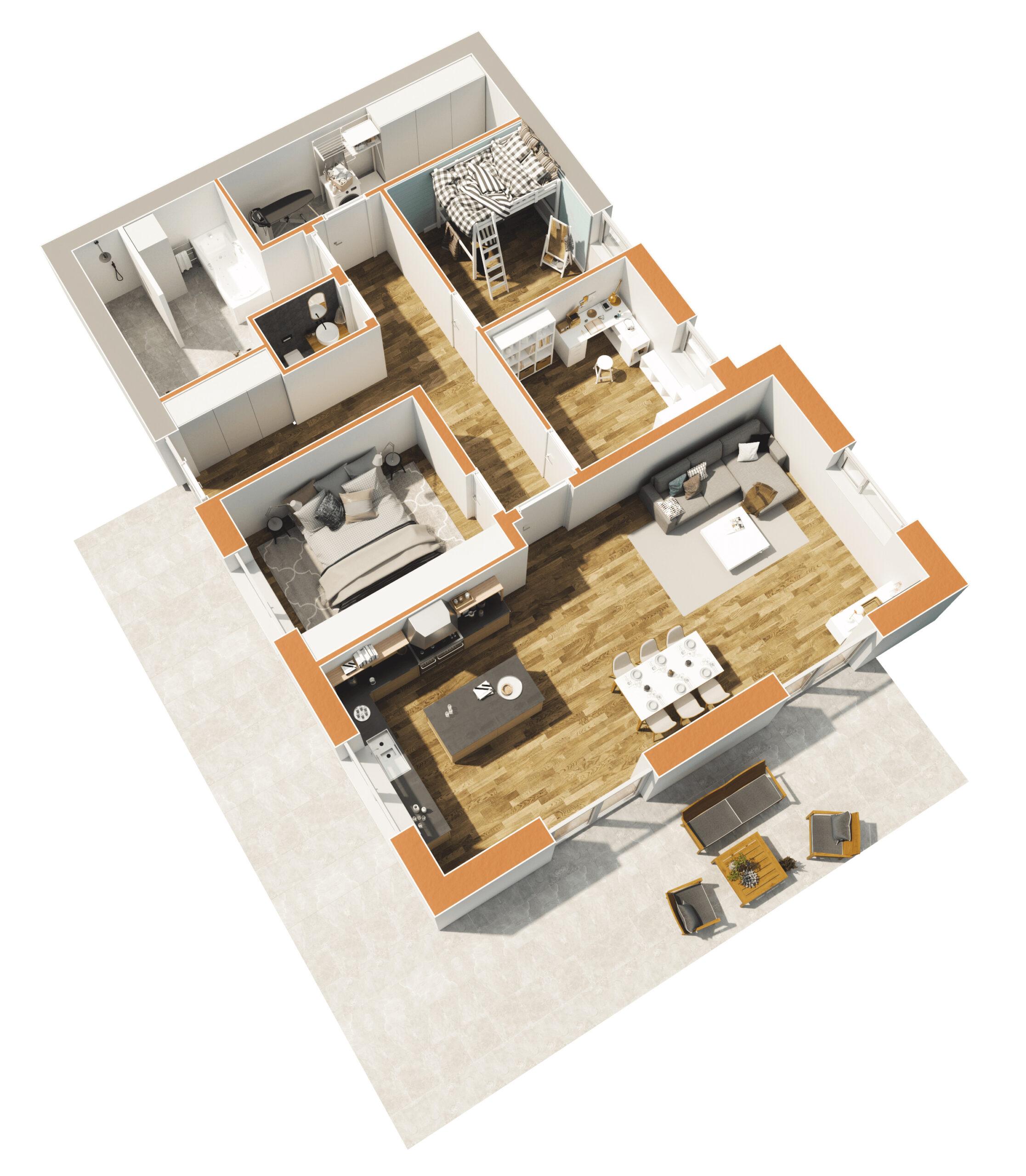 Haus 3 - Untergeschoss